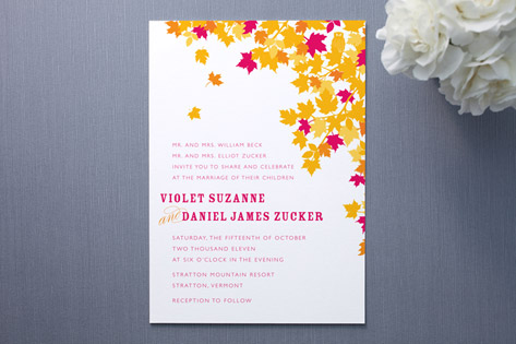 Kissing Wedding Invitations