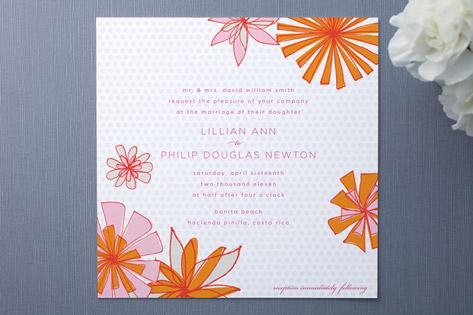Pocketful of Posies Wedding Invitations