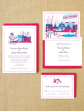 Lab Partners Hello Lucky Las Vegas Wedding Invitations