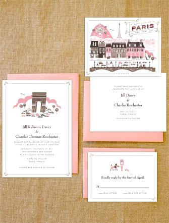 Lucky Paris Wedding Invitations