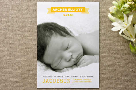 Archer Birth Announcements by Unless Someone Like You