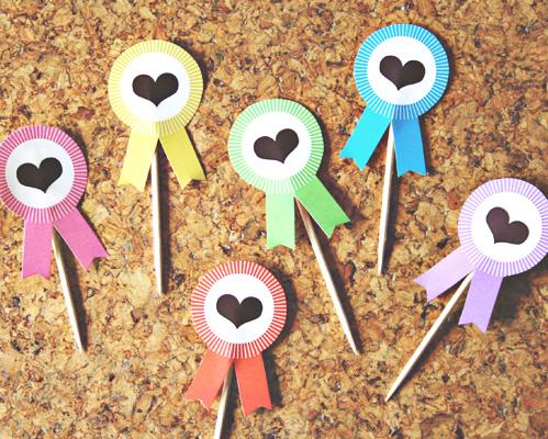 Free Printable Award Ribbon Cupcake Toppers