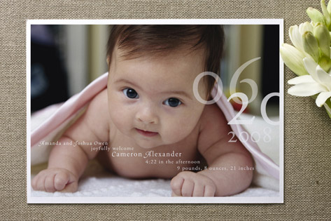 Belle Memoire Birth Announcements by Helena Seo Design