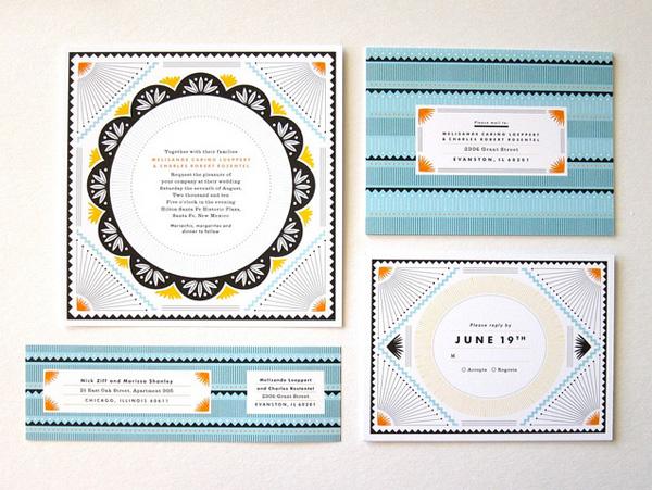 Erin Jang Santa Fe Wedding Invitations