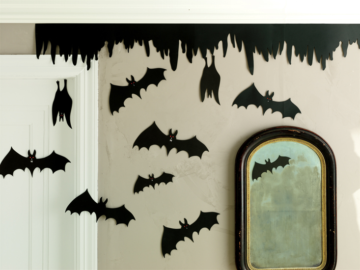 martha stewart bat silhouette halloween decorations - Halloween Bat Decorations