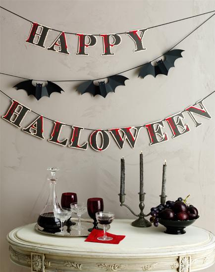 Happy Halloween Bat Garland Decoration Paper Crave