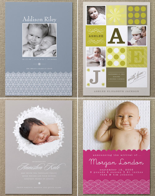 Minted Birth Announcements