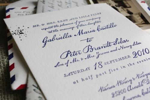 Vintage Airmail Wedding Invitations