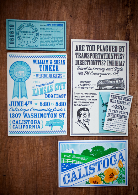 Vintage Ephemera Wedding Invitations