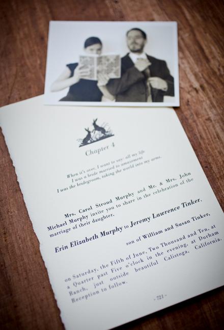 Vintage Ephemera Wedding Invitations