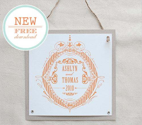 Free Custom Wedding Crest