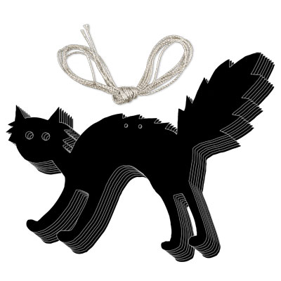 Black Cat Halloween Garland