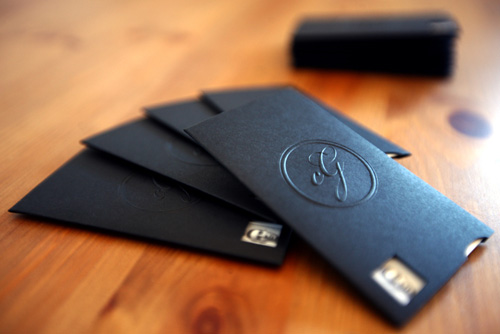 Cale Glendening Embossed Business Cards