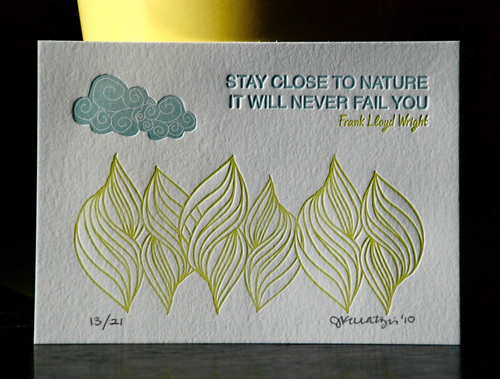 Cartoules Letterpress Nature Print