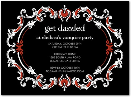 Dazzling Frame Halloween Party Invites