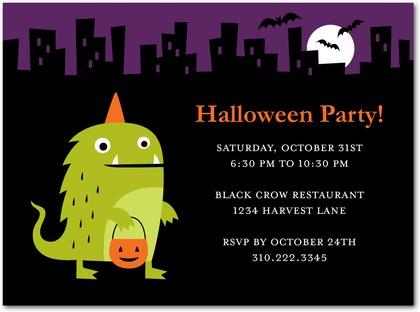 Dazzling frame halloween invitations paper crave monster fun halloween party invitations stopboris Choice Image
