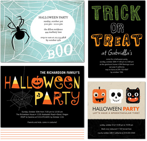 From the Shop Friday Cute Halloween Party Invites Paper Crave