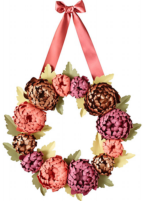 Paper Source Mums Wreath Kit