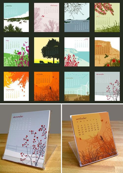 Anna Cote 2011 Desk Calendar