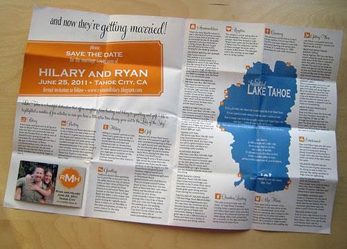 Destination Wedding Map Save the Dates