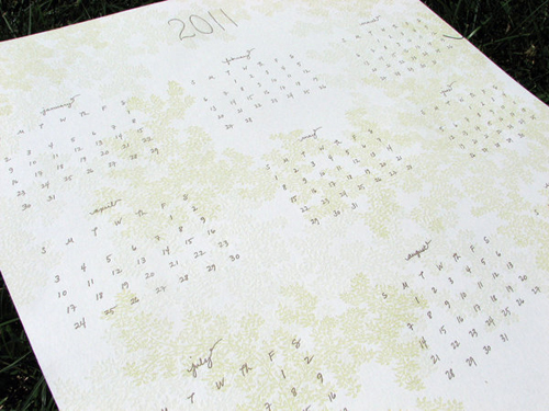 Campbell Raw Letterpress Wall Calendar
