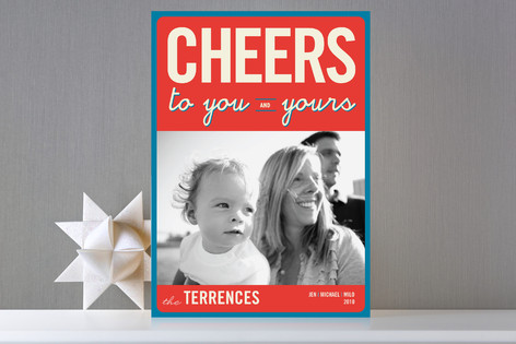 Cheers to You Holiday Photo Cards