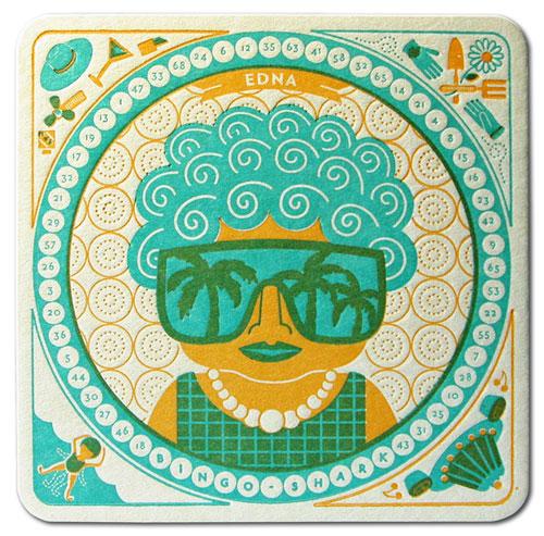 Edna Letterpress Coaster