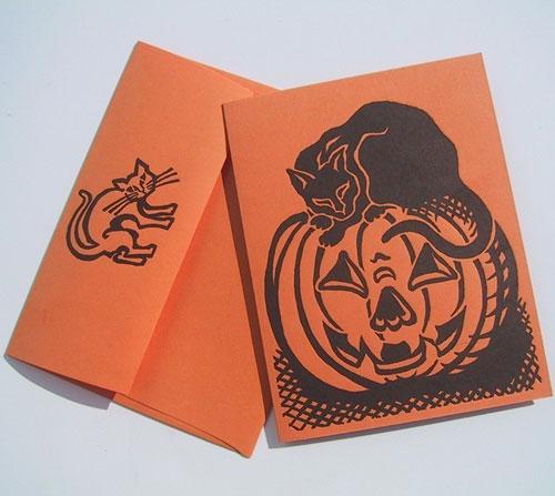 Dandy Lion Halloween Letterpress Card