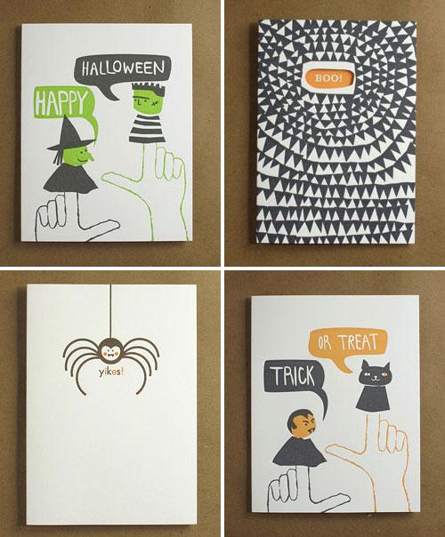 Egg Press Halloween Letterpress Cards