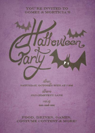 Fina Art & Paper Halloween Invitations