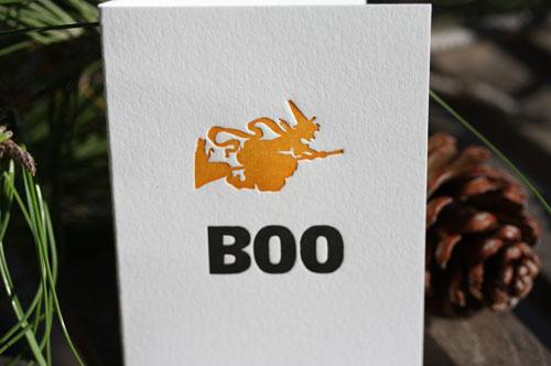 Hazel & Violet Boo Witch Letterpress Card