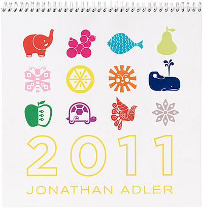 Jonathan Adler 2011 Grid Calendar
