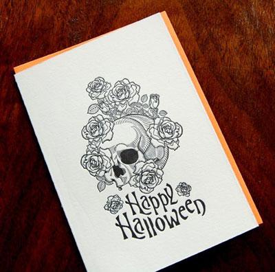 Kirtland House Letterpress Halloween Cards