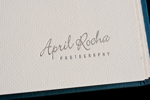 April Rocha Custom Leather Craftsmen Wedding Album