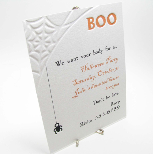 Halloween Spiderweb Party Invitations