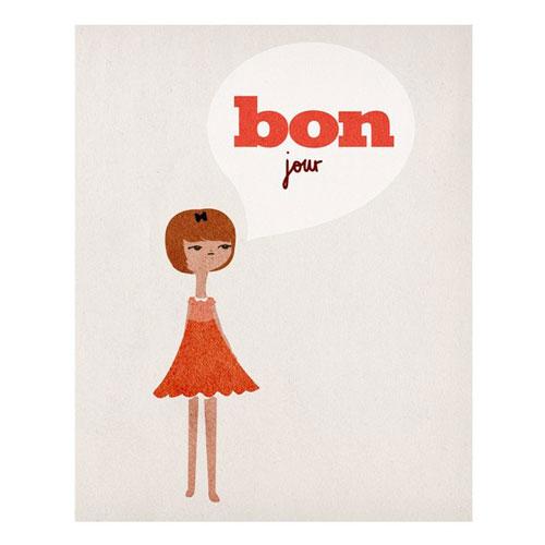 Love Sugar Bonjour Print