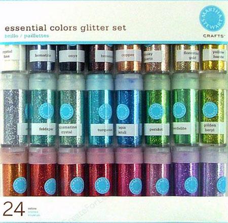Martha Stewart Glitter 24 Piece Multi Pack