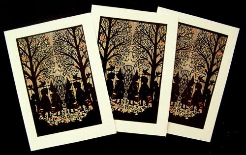 Nancy Michalak Paper Cut Halloween Card
