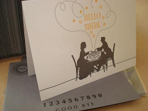 Oddball Letterpress Ouija Halloween Card