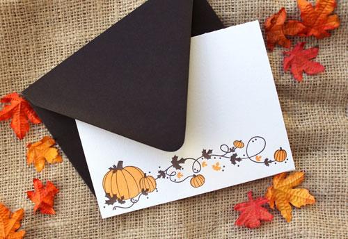Pumpkin Garland Halloween Letterpress