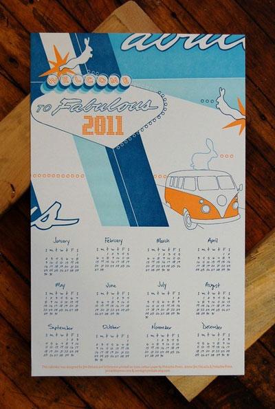 2011 Fabulous Letterpress Wall Calendar
