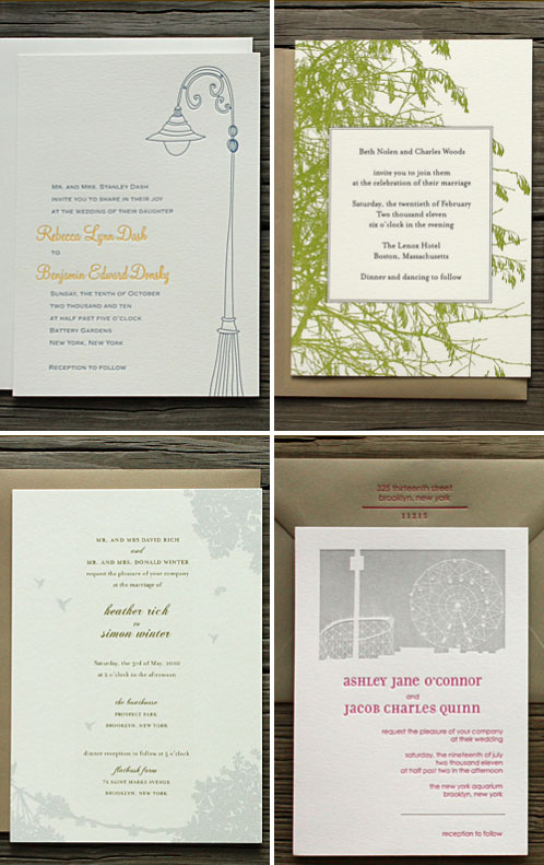 PostScript Brooklyn Wedding Invitations