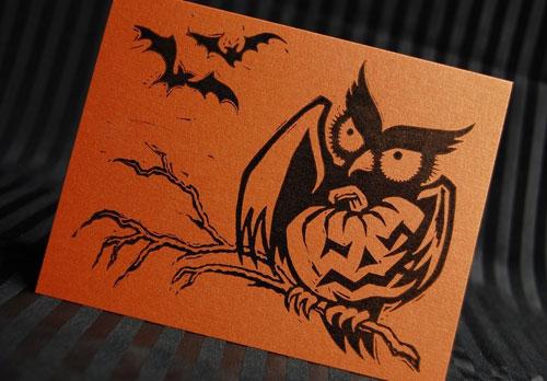 Pup & Pony Halloween Card