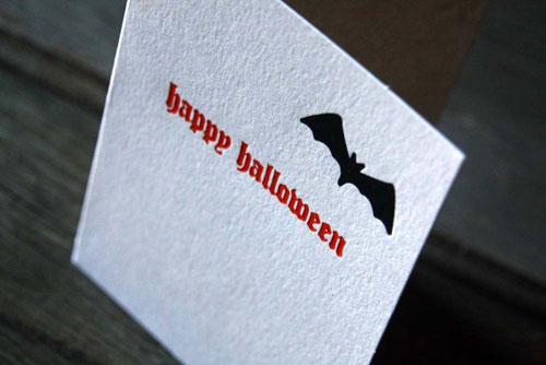 Studio 827 Halloween Letterpress Cards
