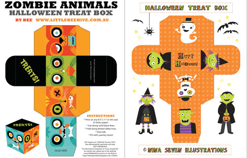 We Love to Illustrate Halloween Treat Boxes