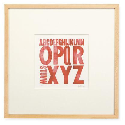 Zeichen Press Letterpress Alphabet Prints
