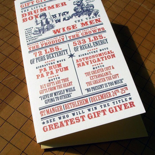 A. Favorite Boxing Match Holiday Letterpress