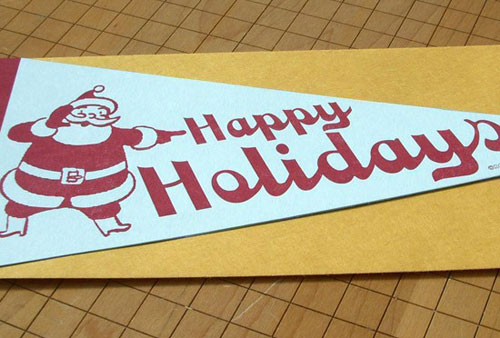 A. Favorite Happy Holidays Pennant