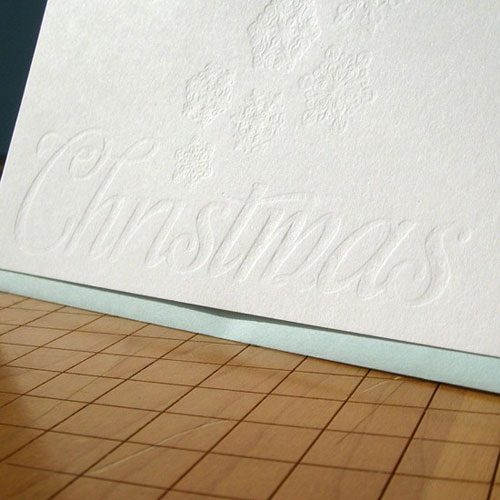 A. Favorite Blind Debossed Letterpress Holiday Card