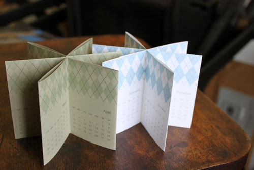 Albertine Letterpress Accordion Fold Calendar
